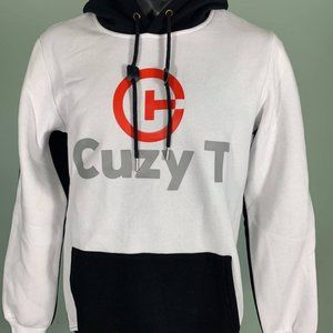 Cuzy T Men's White/Black/Red Long Sleeve Hoodie